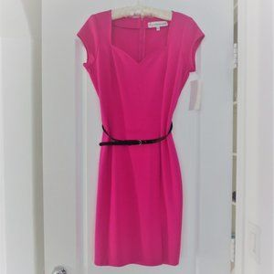 New Giuliana Fitted Ponte Sweetheart Dress
